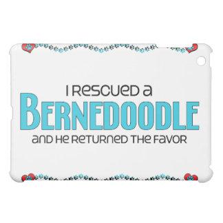 I Rescued a Bernedoodle (Male) Dog Adoption Design iPad Mini Cover