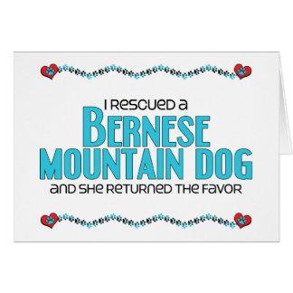I Rescued a Bernese Mountain Dog (Female Dog) Greeting Card