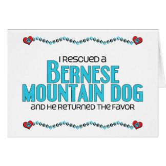 I Rescued a Bernese Mountain Dog (Male Dog) Greeting Card