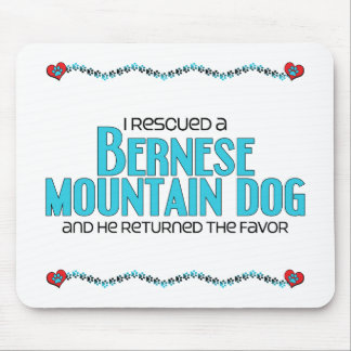 I Rescued a Bernese Mountain Dog (Male Dog) Mouse Pad