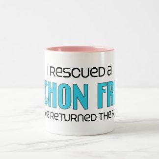 I Rescued a Bichon Frise (Male Dog) Two-Tone Coffee Mug