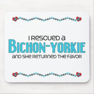 I Rescued a Bichon-Yorkie (Female) Dog Adoption Mouse Pad