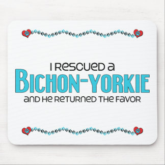 I Rescued a Bichon-Yorkie (Male) Dog Adoption Mouse Pad