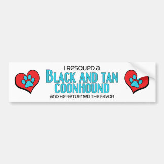 I Rescued a Black and Tan Coonhound (Male Dog) Bumper Sticker