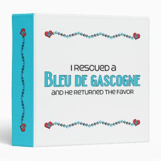 I Rescued a Bleu de Gascogne (Male Dog) Vinyl Binder