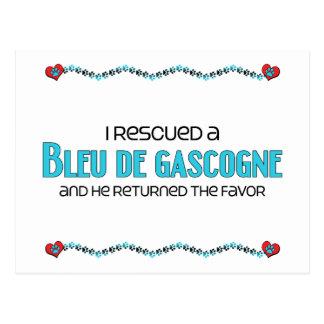 I Rescued a Bleu de Gascogne (Male Dog) Postcard