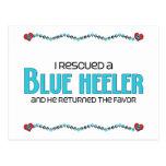 I Rescued a Blue Heeler (Male Dog) Postcard