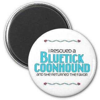 I Rescued a Bluetick Coonhound (Female Dog) 2 Inch Round Magnet