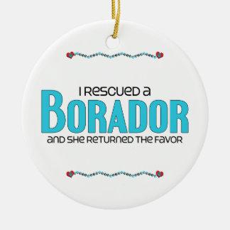 I Rescued a Borador (Female) Dog Adoption Design Ceramic Ornament