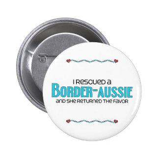 I Rescued a Border-Aussie (Female) Dog Adoption Button