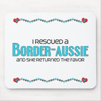 I Rescued a Border-Aussie (Female) Dog Adoption Mouse Pad