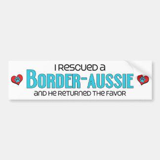 I Rescued a Border-Aussie (Male) Dog Adoption Car Bumper Sticker