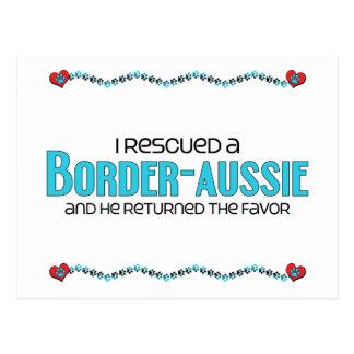 I Rescued a Border-Aussie (Male) Dog Adoption Postcard