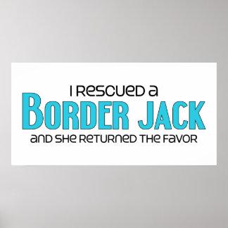 I Rescued a Border Jack Female Dog Adoption Poster
