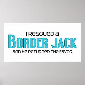 I Rescued a Border Jack Male Dog Adoption Design Posters