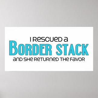 I Rescued a Border Stack Female Dog Adoption Print