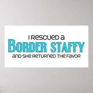 I Rescued a Border Staffy Female Dog Adoption Posters