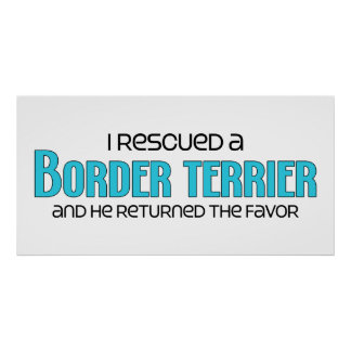 I Rescued a Border Terrier Male Dog Posters