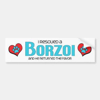 I Rescued a Borzoi (Male Dog) Bumper Sticker