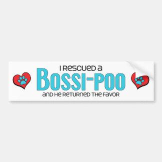 I Rescued a Bossi-Poo (Male) Dog Adoption Design Bumper Sticker