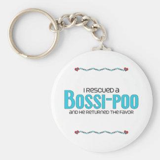 I Rescued a Bossi-Poo (Male) Dog Adoption Design Keychain