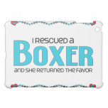 I Rescued a Boxer (Female Dog) iPad Mini Covers