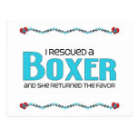 I Rescued a Boxer (Female Dog) Postcard