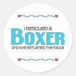 I Rescued a Boxer (Female Dog) Sticker