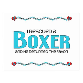 I Rescued a Boxer (Male Dog) Postcard