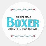 I Rescued a Boxer (Male Dog) Sticker