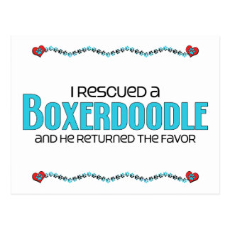 I Rescued a Boxerdoodle (Male) Dog Adoption Design Postcard