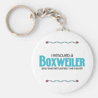 I Rescued a Boxweiler (Female) Dog Adoption Design Basic Round Button Keychain