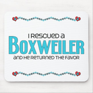 I Rescued a Boxweiler (Male) Dog Adoption Design Mouse Pad