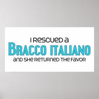 I Rescued a Bracco Italiano (Female Dog) Poster