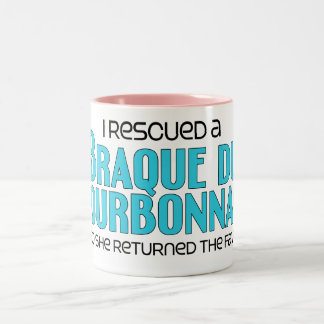 I Rescued a Braque du Bourbonnais (Female Dog) Two-Tone Coffee Mug