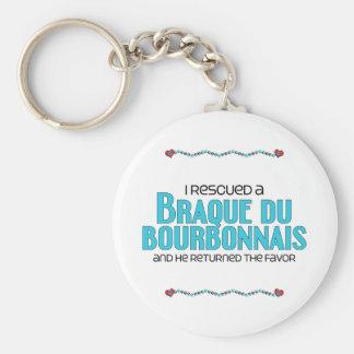 I Rescued a Braque du Bourbonnais (Male Dog) Keychain