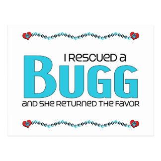 I Rescued a Bugg (Female) Dog Adoption Design Postcard
