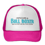 I Rescued a Bull Boxer (Male) Dog Adoption Design Trucker Hats
