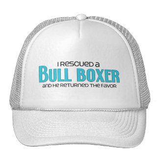 I Rescued a Bull Boxer (Male) Dog Adoption Design Hats