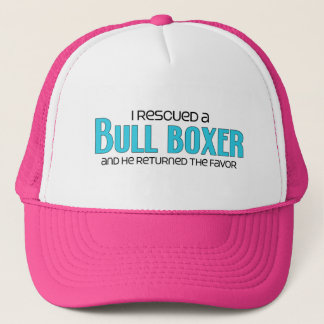I Rescued a Bull Boxer (Male) Dog Adoption Design Trucker Hat