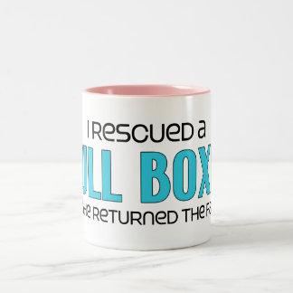 I Rescued a Bull Boxer (Male) Dog Adoption Design Two-Tone Coffee Mug