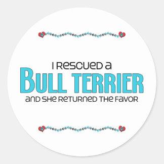 I Rescued a Bull Terrier (Female Dog) Sticker