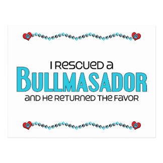 I Rescued a Bullmasador (Male) Dog Adoption Design Postcard