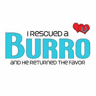 I Rescued a Burro (Male Burro) Photo Sculpture Magnet