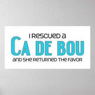 I Rescued a Ca de Bou (Female Dog) Poster
