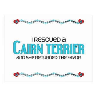 I Rescued a Cairn Terrier (Female Dog) Postcard