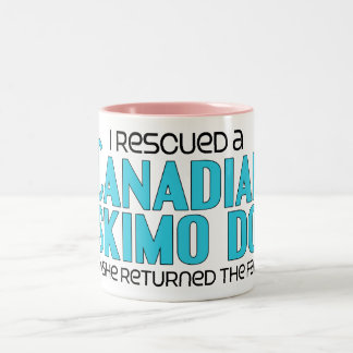 I Rescued a Canadian Eskimo Dog (Female Dog) Two-Tone Coffee Mug