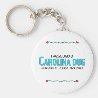 I Rescued a Carolina Dog (Female Dog) Keychain