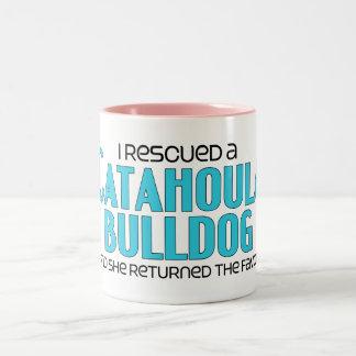 I Rescued a Catahoula Bulldog (Female Dog) Two-Tone Coffee Mug