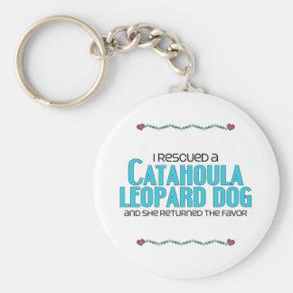 I Rescued a Catahoula Leopard Dog (Female Dog) Keychain